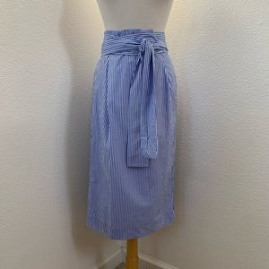 J.Crew stripped cotton skirt size 6 NWOT